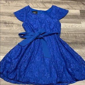 Girl's Holiday Editions Blue lace dress